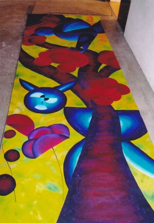 La fable - Acrylique - Kakemono