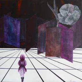 Entrée dans la vie- Acrylique - 60x60