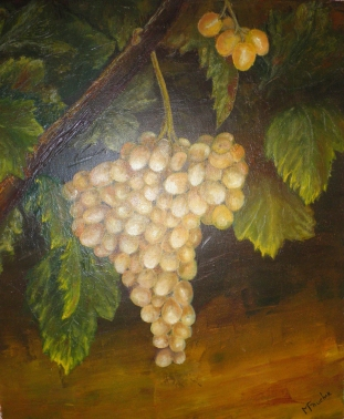 Grappe de raisin - Huile - 46x38